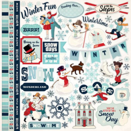 Carta Bella stickers - Snow Fun