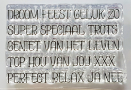Clear Stamp CreaLies - woord strip Droom (NL)