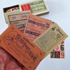 Vintage Label Stickers - Vintage (set 60 stuks)