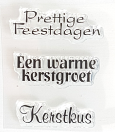 Clear Stamp - K 10 - Tekst & Zo Stempels