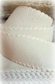 Borduurband Crème - 3,5 cm breed