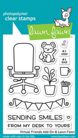 Clear Stamp Lawn fawn - Virtual Friends