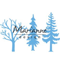 Snijmal Marianne Design - Forest Trees (set 3 stuks)