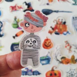 Set Vintage Halloween stickers (set 34 stuks)