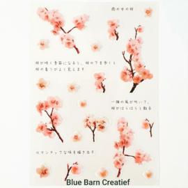 Transparant Stickervel - Sakura bloemen