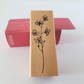 Vintage houten stempel - Botanisch gras 2