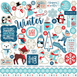 Echo Park stickers - Celebrate Winter