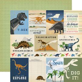 "PaperPad Carta Bella - Dinosaurs (12"" Collection kit)"