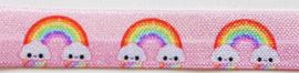Elastisch lint - Regenboog Roze