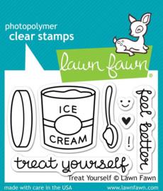 Clear Stamp Lawn Fawn - Treat Yourself