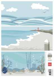 Knipvel Marianne Design - Eline`s background Ocean