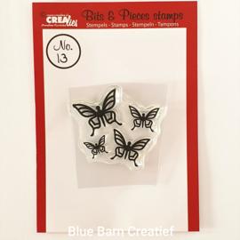 CreaLies clear stamp - Vlinders no. 13