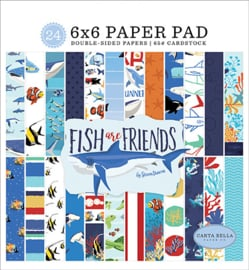PaperPad Carta Bella - Fish Are Friends 6""