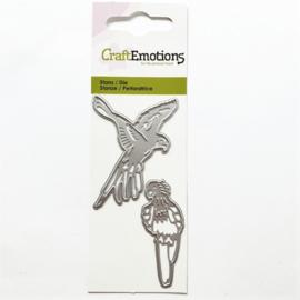 Snijmal CraftEmotions - Papegaaien