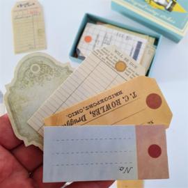 Vintage Label Stickers - Stationery (set 60 stuks)