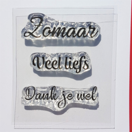 CreaLies clear stamp - Zomaar