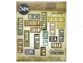 Snijmal Sizzix - Vacation