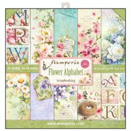 PaperPad Stamperia - Flower Alphabet