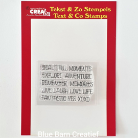 CreaLie clear stamps - woord strip Moments (ENG)