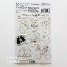 Clear Stamp CraftEmotions - Pinguïn 2