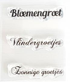 Clear Stamp - Bloemengroet