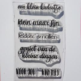CreaLies clear stamp - een klein kadootje