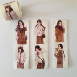 Washi Tape - Meisjes Naturel 2