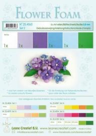 Flower Foam set 2 - Blauw/Paars