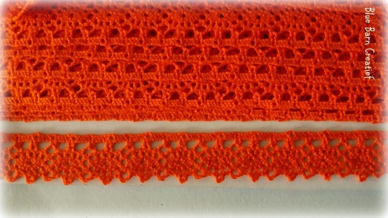 Katoen kant - Oranje