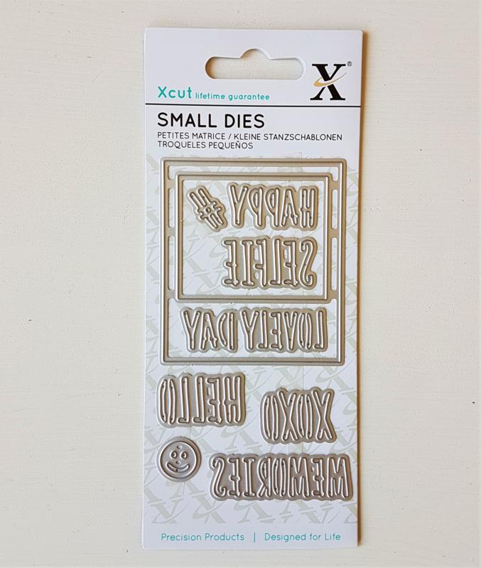 Snijmal Xcut - Polaroid frame & sentiments (set 9 stuks)