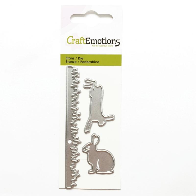 Snijmal CraftEmotions - Konijnen