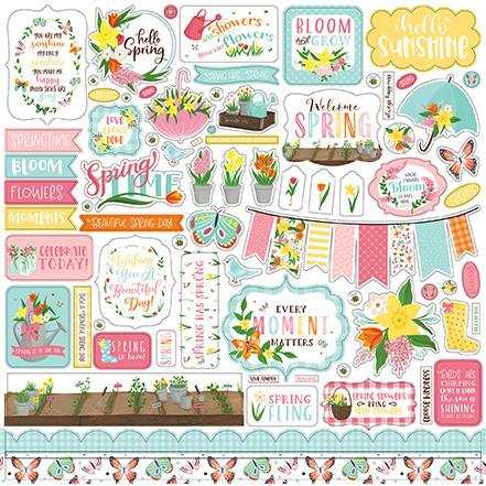 Echo Park stickers - I Love Spring