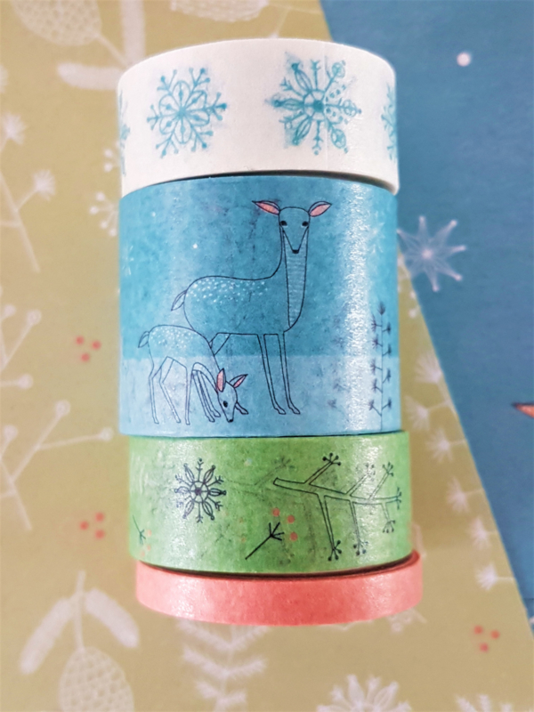 Masking  Tape - Winter Woodland (set 4 rollen)