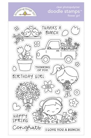 Clear Stamp DoodleBug Design - Flower Girl