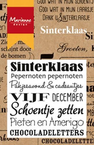 Clear Stamp Marianne Design - Sinterklaas