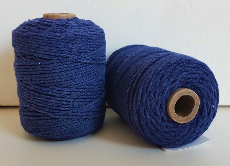 Katoen Koord 2mm - Koningsblauw