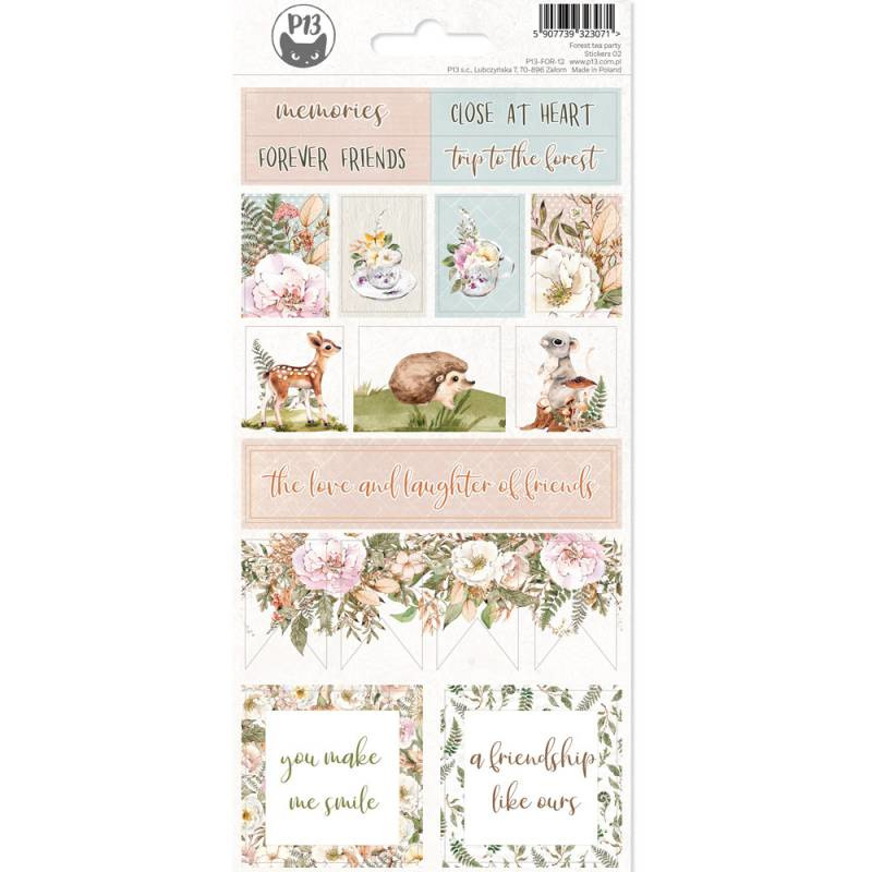 Piatek13 Sticker sheet - Forest Tea Party 02