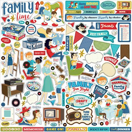 Carta Bella stickers - Family Night