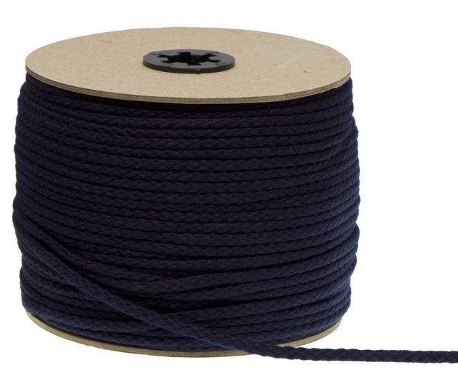 Katoen koord 5mm - Donker Blauw