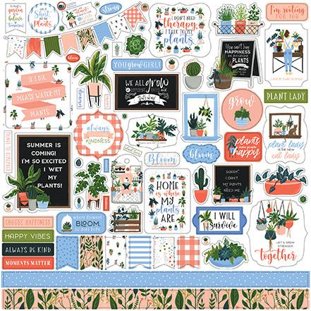 Echo Park stickers - Plant Lady
