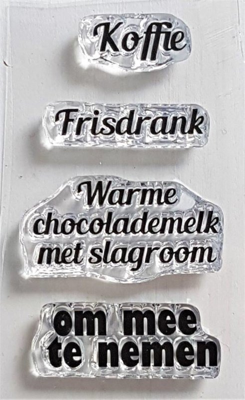 Clear Stamp - M 07 - Tekst & Zo Stempels