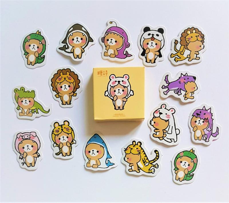 Stickers Verkleedbeertje - set 45 stuks