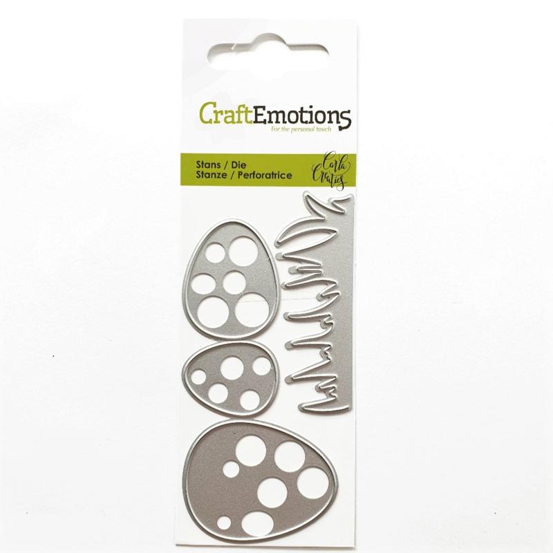 Snijmal CraftEmotions - Gras met Eieren