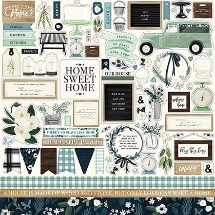 Carta Bella stickers - Home Again
