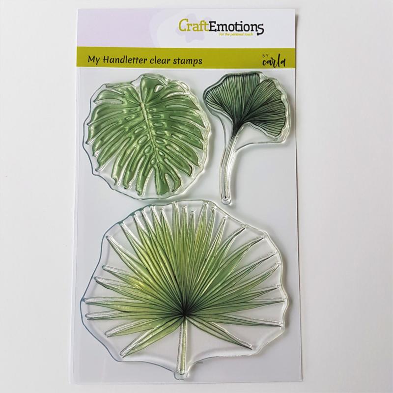 Clear Stamp CraftEmotions -  Tropische Bladeren