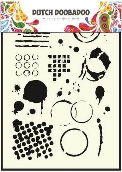 Dutch Doobadoo Mask - Geometric Tiles