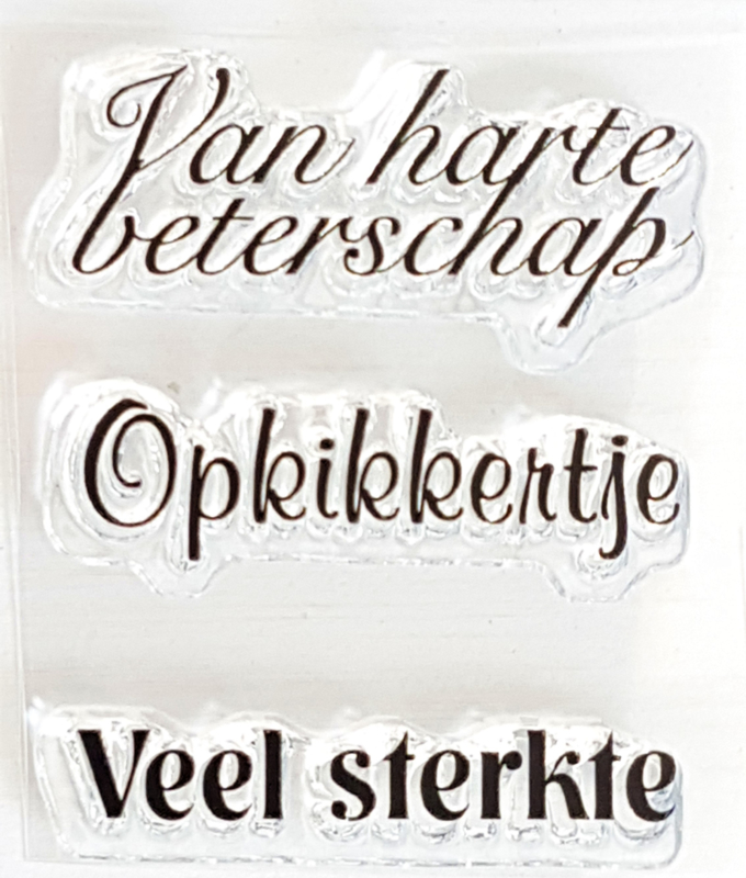 Clear Stamp - BE 07 - Tekst & Zo Stempels