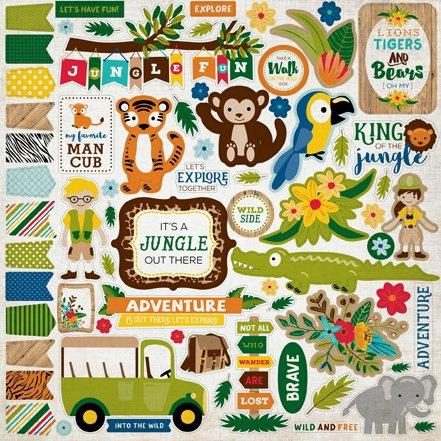 Echo Park Stickers - Jungle Safari