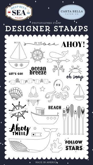 Clear Stamp Carta Bella - By the Sea