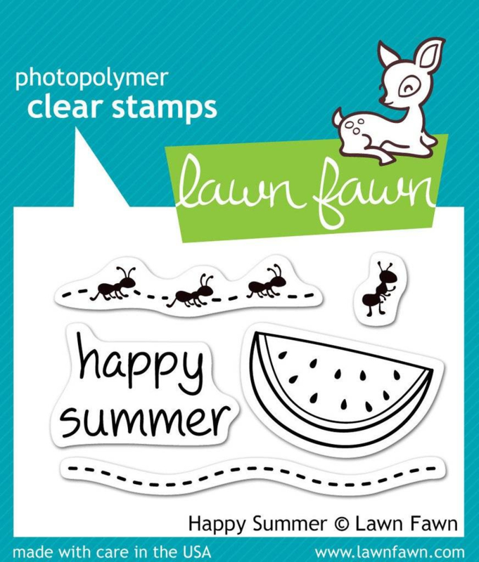 Clear Stamp Lawn Fawn - Happy Summer